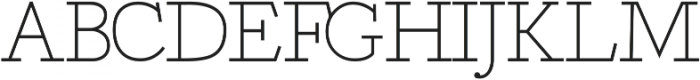 Deputy Serif ttf (400) Font UPPERCASE