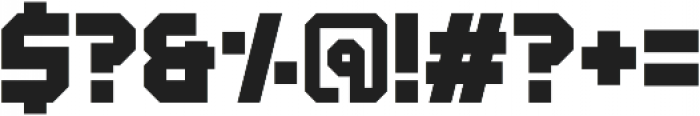 Derelict Regular otf (400) Font OTHER CHARS