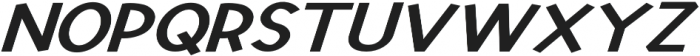 Derky Extra-expanded Italic otf (400) Font UPPERCASE