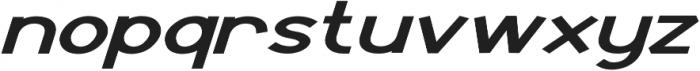 Derky Extra-expanded Italic otf (400) Font LOWERCASE