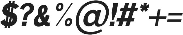 Deron Black Italic otf (900) Font OTHER CHARS