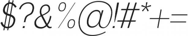 Deron Light Italic otf (300) Font OTHER CHARS