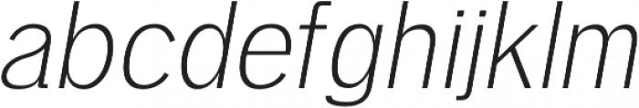 Deron Light Italic otf (300) Font LOWERCASE