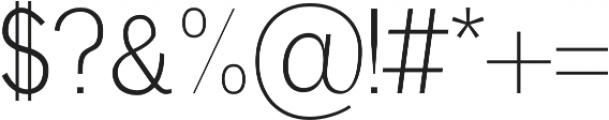 Deron Light otf (300) Font OTHER CHARS