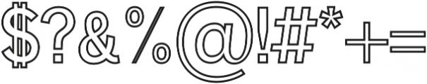 Deron Outline otf (400) Font OTHER CHARS