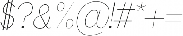 Deron Thin Italic otf (100) Font OTHER CHARS