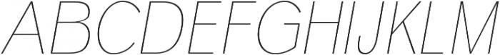 Deron Thin Italic otf (100) Font UPPERCASE