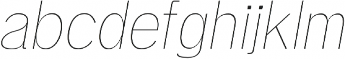 Deron Thin Italic otf (100) Font LOWERCASE