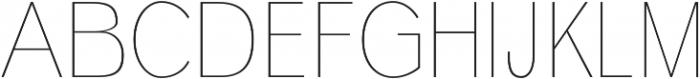 Deron Thin otf (100) Font UPPERCASE