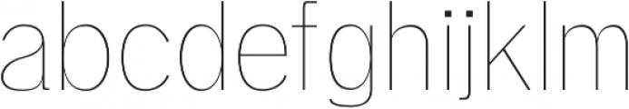 Deron Thin otf (100) Font LOWERCASE