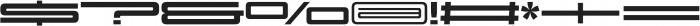 Design System F 900R otf (900) Font OTHER CHARS