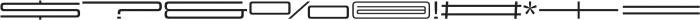 Design System G 500R otf (500) Font OTHER CHARS