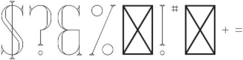Desire Outline otf (400) Font OTHER CHARS