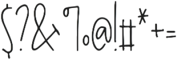 Desmond otf (400) Font OTHER CHARS