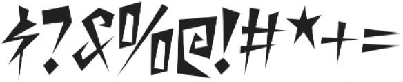 Desperate Regular otf (400) Font OTHER CHARS