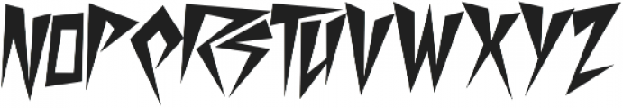 Desperate Regular otf (400) Font UPPERCASE