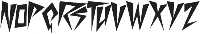 Desperate Regular otf (400) Font LOWERCASE