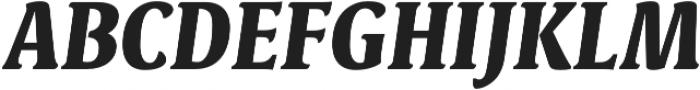Destra Black Italic otf (900) Font UPPERCASE