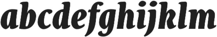Destra Black Italic otf (900) Font LOWERCASE
