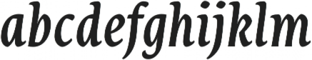 Destra Medium Italic otf (500) Font LOWERCASE