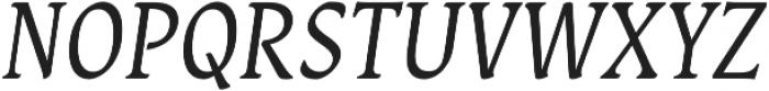 Destra Regular Italic otf (400) Font UPPERCASE