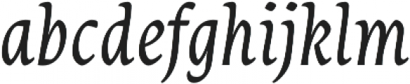 Destra Regular Italic otf (400) Font LOWERCASE