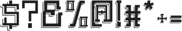Detac Line otf (400) Font OTHER CHARS