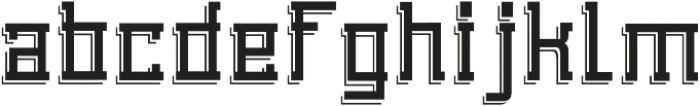 Detac Line otf (400) Font LOWERCASE