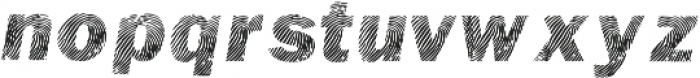 Detective Bold Italic otf (700) Font LOWERCASE