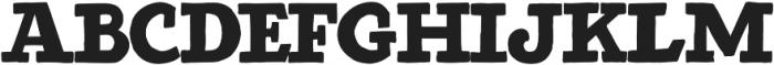Detroit Regular otf (400) Font LOWERCASE