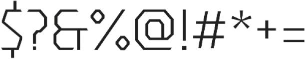 Dever Sans Light otf (300) Font OTHER CHARS