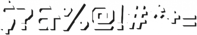 Dever Sans Shadow Medium otf (500) Font OTHER CHARS