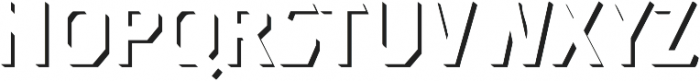 Dever Sans Shadow Medium otf (500) Font UPPERCASE
