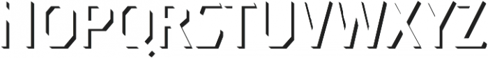 Dever Sans Shadow Regular otf (400) Font UPPERCASE