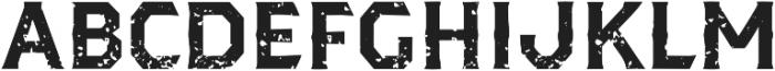 Dever Serif Rough Bold otf (700) Font UPPERCASE