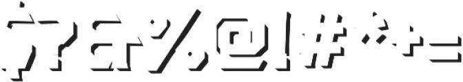 Dever Serif Shadow Medium otf (500) Font OTHER CHARS