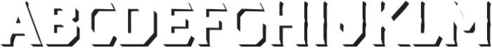 Dever Serif Shadow Medium otf (500) Font LOWERCASE