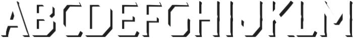 Dever Serif Shadow Regular otf (400) Font UPPERCASE