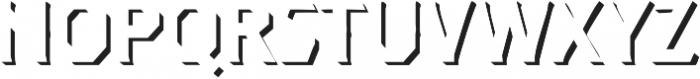 Dever Serif Shadow Regular otf (400) Font LOWERCASE