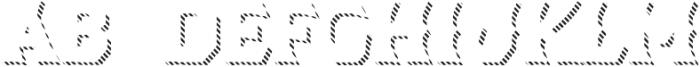 Dever Wedge Line Medium otf (500) Font UPPERCASE