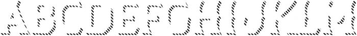 Dever Wedge Line Regular otf (400) Font UPPERCASE