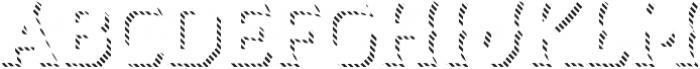 Dever Wedge Line Regular otf (400) Font LOWERCASE