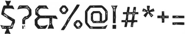 Dever Wedge Print Regular otf (400) Font OTHER CHARS