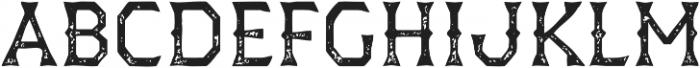 Dever Wedge Print Regular otf (400) Font UPPERCASE