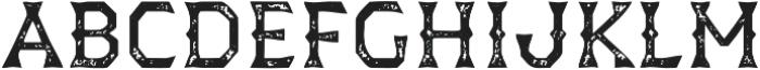 Dever Wedge Print Regular otf (400) Font LOWERCASE