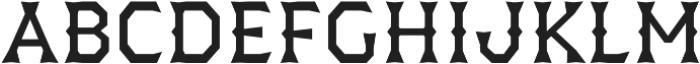 Dever Wedge Regular otf (400) Font LOWERCASE