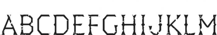 Dever Wedge Rough Light otf (300) Font LOWERCASE