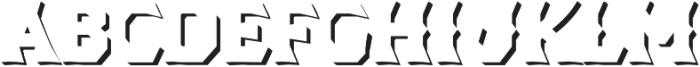 Dever Wedge Shadow Medium otf (500) Font UPPERCASE