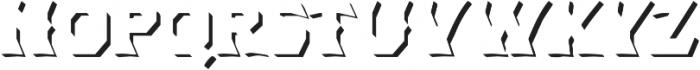 Dever Wedge Shadow Medium otf (500) Font LOWERCASE