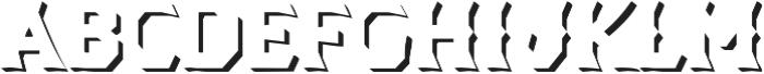 Dever Wedge Shadow Regular otf (400) Font LOWERCASE